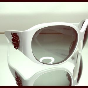 Versace Limited Edition White Sunglasses